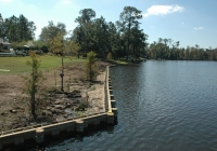 Bulkhead after completion in Slidell