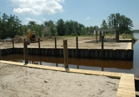New Orleans area bulkhead job for customer. Included a boat launch.